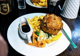 Shambles Tavern in York Pie and Chips